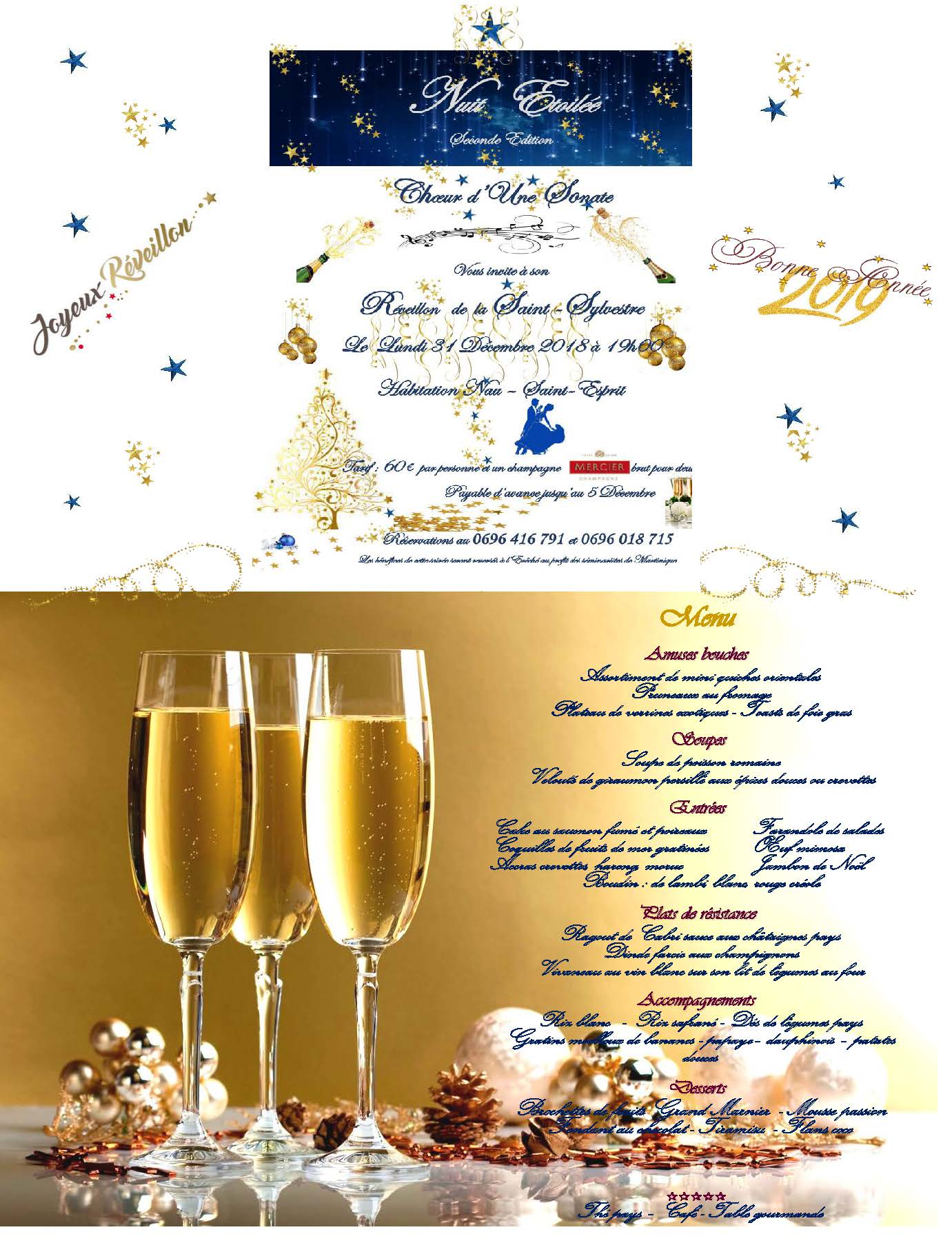 Invitation Saint Sylvestre